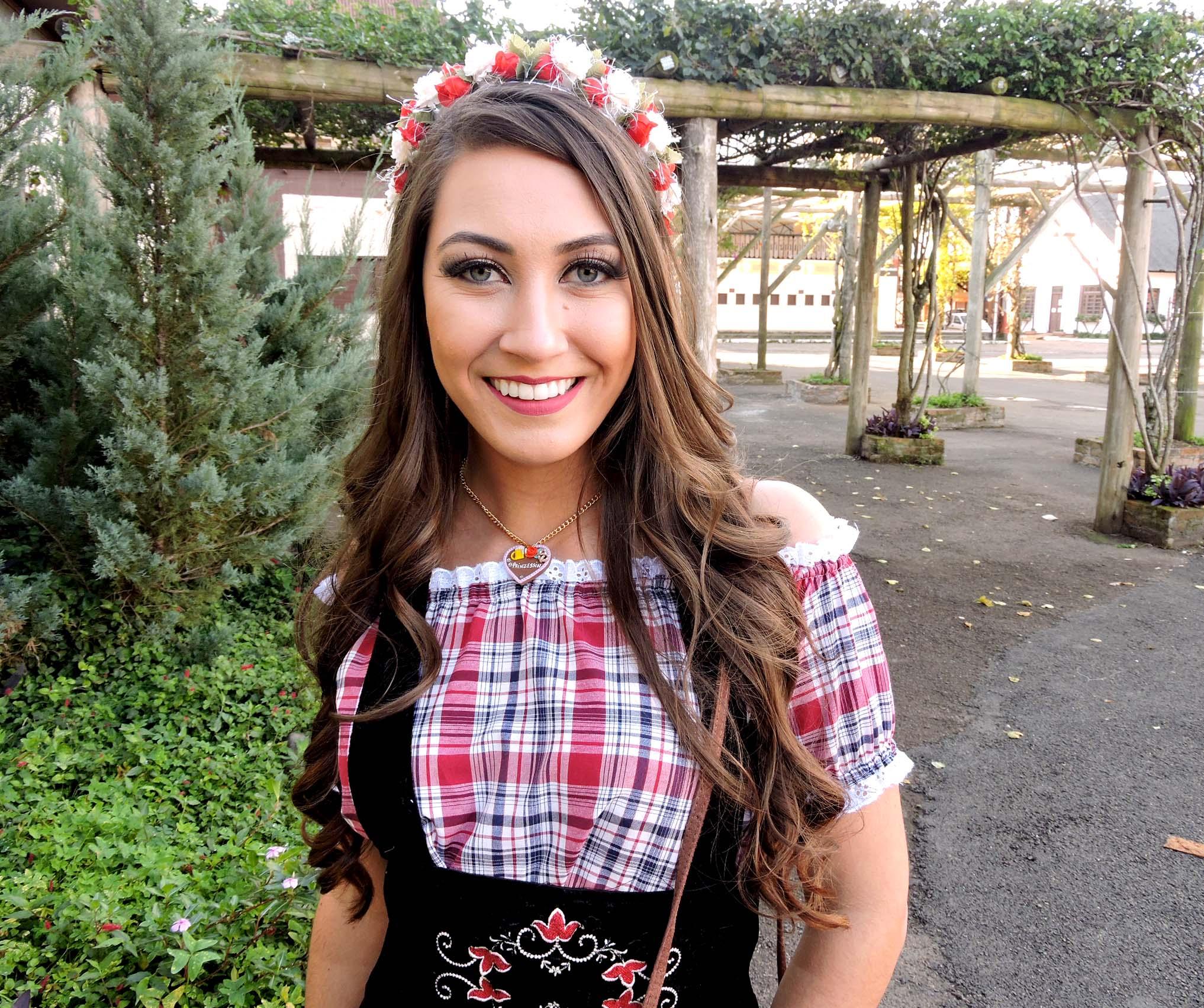 tiara de flores para traje tipico alemão